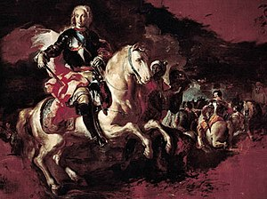 Battle of Velletri (1744) - Triumph of Charles VII of Naples at the Battle of Velletri by Francesco Solimena. Oil on canvas (1744).
