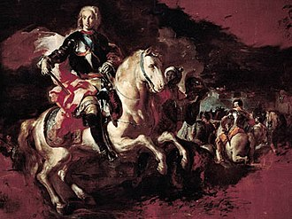 Velletri - Triumph of Charles III at the Battle of Velletri by Francesco Solimena. Oil on canvas, 1744.