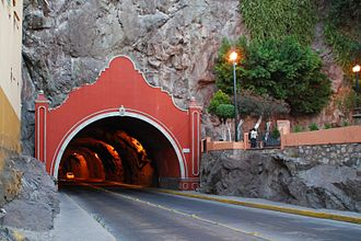Tunnel - Decorated entrance to a road tunnel in Guanajuato, Mexico