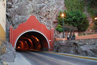 Tunnel - Decorated entrance to a road tunnel in Guanajuato, Mexico