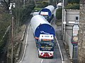 Turbine Convoy passing through Bridge Mills - geograph.org.uk - 754370.jpg