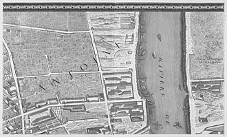 Turgot map of Paris - Image: Turgot map Paris KU 02