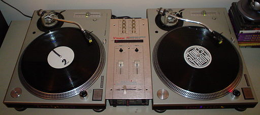 Turntables and mixer