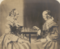 Two of Lewis Carroll's aunts, Margaret Anne and Henrietta Mary Lutwidge, playing chess.png