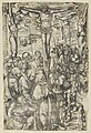 Two prints- The Crucifixion on recto and Christ Bearing the Cross on verso, from The Passion MET DP841861.jpg
