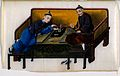 Two wealthy Chinese opium smokers. Gouache painting on rice- Wellcome V0019164.jpg