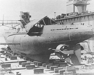 30th U-boat Flotilla - U-18 being re-assembled at Galați, Romania