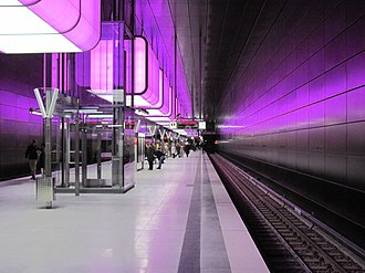 Hamburg U-Bahn - HafenCity Universität Station of Hamburg U-Bahn