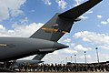 U.S. Army paratroopers with the 1st Brigade Combat Team, 82nd Airborne Division board an Air Force C-17 Globemaster III aircraft for airborne operations June 27, 2013, during Joint Operational Access Exercise 130627-F-GO452-154.jpg