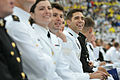 U.S. Naval Academy graduates take their seats during the class of 2013 graduation and commissioning ceremony May 24, 2013, at the Navy-Marine Corps Memorial Stadium in Annapolis, Md 130524-N-OA833-042.jpg