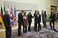 U.S. Secretary of State John Kerry & Iranian Foreign Minister Mohammad Javad Zarif in Geneva, Switzerland, November 24, 2013.jpg