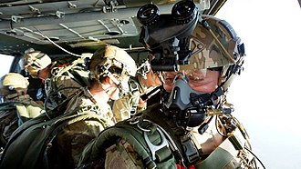 Pathfinder Platoon - UK Pathfinders conducting freefall training from a Blackhawk