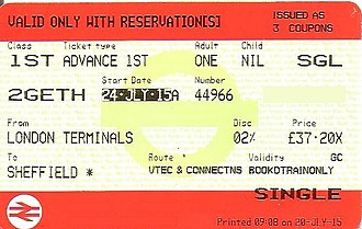 Two Together Railcard - Ticket with two together railcard code