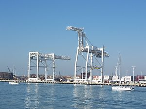 Port of Oakland. View from Alameda, California...