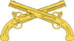 US Military Police Corps Branch Insignia bearing crossed Model 1805s