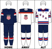USA national hockey team jerseys - 2014 Winter Olympics.png
