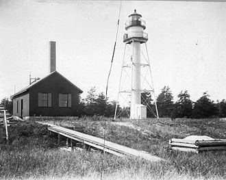 La Pointe Light - USCG archive photo
