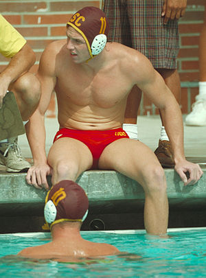 Water Polo player at the USC campus pool circa...
