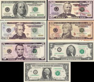 billet de banque dollar americain