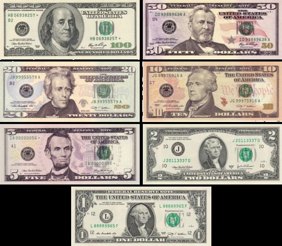 ¿Cuantos tipos de dinero hay en una economía? ¿Cuantas clases?