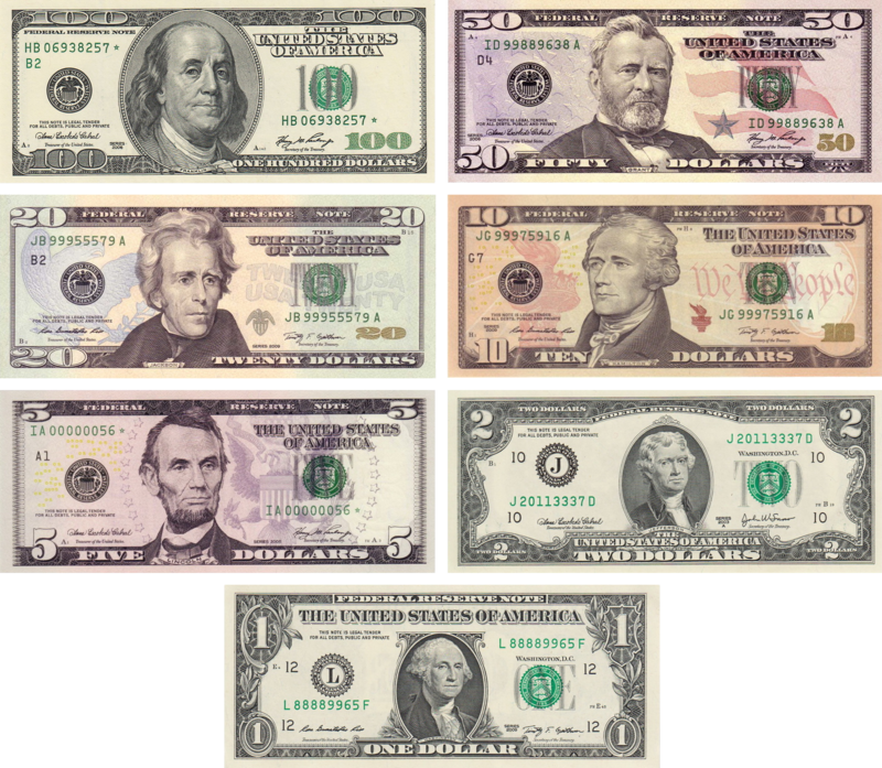 US Dollor notes