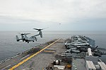 USS America conducts flight operations while transiting the Malacca Straits. (36060811434).jpg