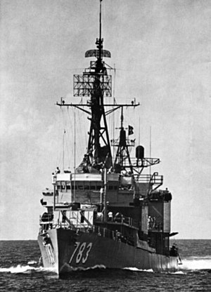 USS Gurke (DD-783) underway 1966