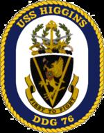 USS Higgins DDG-76 Crest