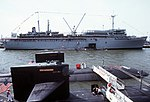 USS L.Y. Spear (AS-36) with submarines at Norfolk 1984.JPEG