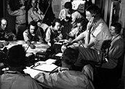 USS Lexington (CV-16) chart room 1943-12