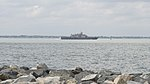 USS Little Rock (LCS-9) departs Naval Station Norfolk on 25 April 2018 (180425-N-KZ419-404).JPG