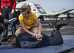 USS Makin Island conducts a navy security force sentry training. (32461979804).jpg