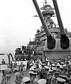 USS Missouri Japanes surrender Marine guard company and Navy band.jpg