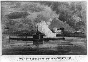 George Wayne Anderson - USS Montauk destroys CSS Rattlesnake at Fort McAllister