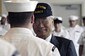 US Navy 040504-N-6477M-061 Senator Paull Shin (WA-D), a sponsor for legislation that enacted observance of Asian Pacific Heritage Month in the United States, attends a uniform inspection.jpg