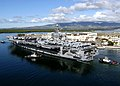 US Navy 050224-N-0499M-065 The Nimitz-class aircraft carrier USS Abraham Lincoln (CVN 72) pulls out of Pearl Harbor, Hawaii, following a port visit after being deployed to the Western Pacific Ocean.jpg