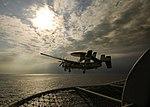 US Navy 060314-N-9742R-004 An E-2C Hawkeye launches from the flight deck aboard the nuclear-powered aircraft carrier USS Enterprise (CVN 65).jpg