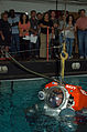US Navy 080801-N-8421M-033 Navy Diver Senior Chief Daniel Jackson, assigned to Deep Submergence Unit (DSU) is lowered into the water while piloting an atmospheric diving system (ADS) 2000 during the unit's 2nd annual Submarine.jpg