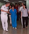 US Navy 090622-F-5647K-104 El Salvador Minister of Health Dr. Maria Isabel Rodriguez a tour of the hospital facilities aboard Comfort.jpg