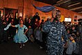 US Navy 110613-N-NL541-730 Seaman Francis Miliswa, assigned to the guided-missile frigate USS Boone (FFG 28), participates in a traditional Chilean.jpg