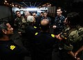 US Navy 110622-N-NE658-199 Capt. Steve Yoder addresses members of the Spanish navy and marine corps during a tour of USS Bataan (LHD 5).jpg