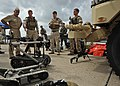 US Navy 110920-N-YO394-112 Rear Adm. Kurt Tidd speaks with members of Explosive Ordnance Disposal Mobile Unit (EODMU) 6.jpg