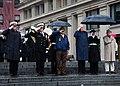 US Navy 111207-N-KV696-036 Rear Adm. Patrick J. Lorge, Frank Yanick and Rear Adm. Edward Walker Jr. render honors during a wreath laying ceremony a.jpg