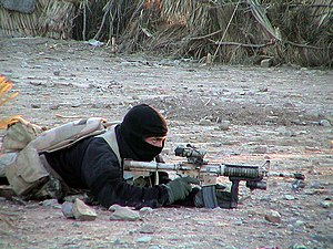 US Navy SEAL team member in Afghanistan 2002