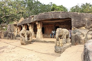 Mahameghavahana dynasty - Image: Udayagiri Caves Ganesha Gumpha 04