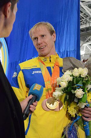 Maksym Veraksa - Image: Ukraine Paralympics team at Boryspil 2016 046