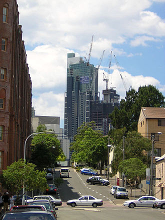 World Tower - The tower in 2004, just prior to completion