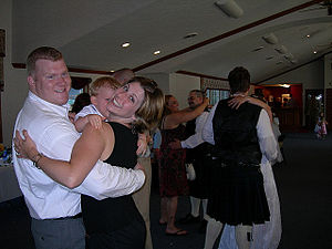Slow dance - People slow dancing at a wedding