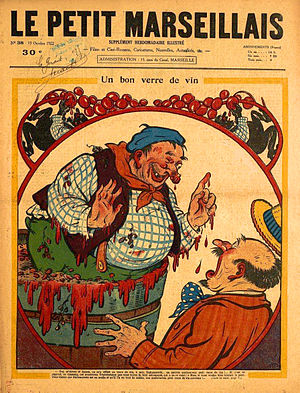 Collective work (France) - Cover of Le Petit Marseillais (15 October 1922) by an anonymous artist