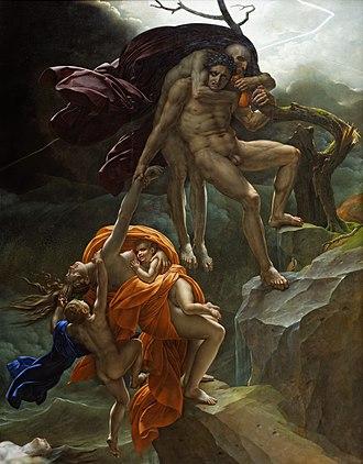 Anne-Louis Girodet de Roussy-Trioson - A Deluge Scene (Une scène de déluge), 1806, Louvre, Paris